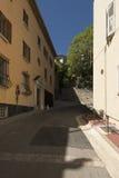 Rue du Mont Chevalier,戛纳,法国 库存图片
