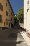 Rue du Mont Chevalier, Cannes, France. Rue du Mont Chevalier street in Cannes. Cannes is a city located on the French Riviera known for its association with the Stock Images