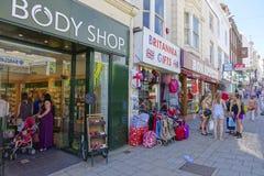 Rue du nord Brighton de clients photo libre de droits