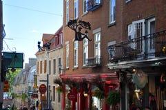 Rue du Petit-Champlain, Québec Fotografia Stock Libera da Diritti