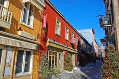Rue du Petit-Champlain, Québec, Canada Fotografia Stock Libera da Diritti