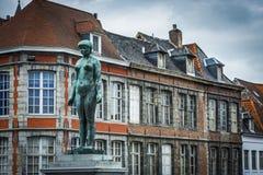 Rue du Pont in Tournai, Belgium Royalty Free Stock Photos