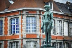 Rue du Pont in Tournai, Belgium Royalty Free Stock Image