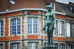 Rue du Pont in Tournai, Belgium Stock Photography