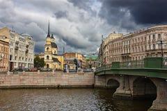 rue du simeon solides solubles de Pétersbourg d'église d'Anna Images stock