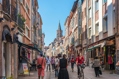 The Rue du Taur in Toulouse, France. Royalty Free Stock Photography