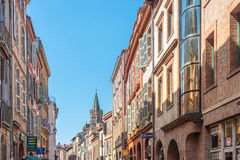 The Rue du Taur in Toulouse, France. Stock Image