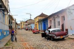 Rue du Trinidad, Cuba Photographie stock