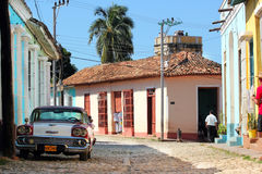 Rue du Trinidad, Cuba Photographie stock libre de droits