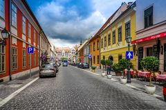 Rue en Buda Castle Image stock