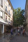 Rue Espariat Aix-en-Provence, França Imagens de Stock Royalty Free