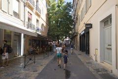 Rue Espariat Aix-en-Provence, França Foto de Stock Royalty Free