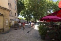 Rue Espariat Aix-en-Provence, França Imagem de Stock
