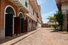 Rue et bâtiment de vintage Images libres de droits