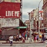 Rue et Broadway de canal dans NYC Image stock