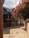 Rue et maisons assez géorgiennes et de Tudor dans Shrewsbury photo stock