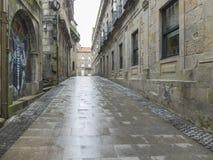 Rue et pluie images libres de droits