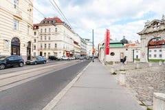 Rue et porte de Rennweg pour abaisser le palais de belvédère Photo stock