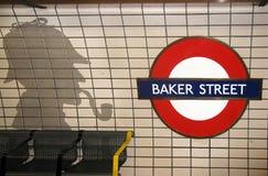 Rue et Sherlock Holmes de Baker Image libre de droits