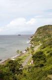 Rue Eustatlius de plage d'Oranjestad de compartiment d'Oranje Photographie stock libre de droits