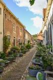 Rue fleurie Photo libre de droits
