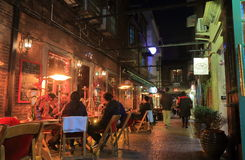 Rue française Changhaï Chine de Tianzifang de connexion image stock