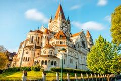 Rue Francis d'église d'Assisi à Vienne images libres de droits