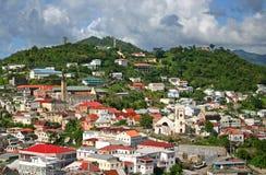 Rue George, Grenada photographie stock libre de droits
