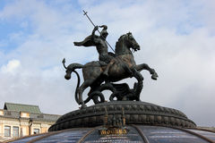 Rue George les grèves de dragon à Moscou Images libres de droits