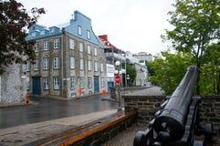 Rue historique avec du charme du Québec Photo stock