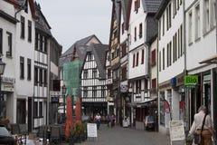 Rue historique dans mauvais Muenstereifel Photo libre de droits