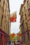 Rue historique de ville de Genève Image stock