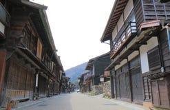 Rue historique Nagano Japon de maison de Naraijyuku photo stock