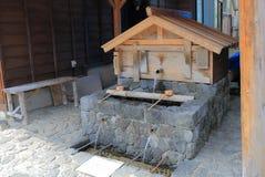 Rue historique Nagano Japon de maison de Naraijyuku photographie stock libre de droits