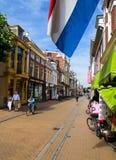 Rue hollandaise de ville Images libres de droits