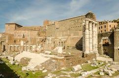 Rue impériale de forum à Rome Images stock