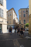 Rue Isolette, Aix-en-Provence, França Fotografia de Stock Royalty Free