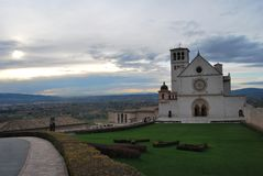 Rue Italie d'Assisi photo stock