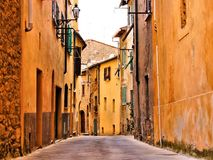 Rue italienne médiévale Photo stock