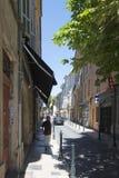 Rue Jacques de la Roque Aix-en-Provence, Frankreich Stockbild