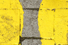 Rue jaune Mark Footprints photos stock