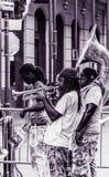 Rue Jazz Performers de Bourbon de quartier français de la Nouvelle-Orléans Photographie stock