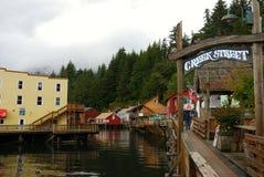 Rue Ketchikan Alaska de crique Photos libres de droits