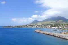 Rue Kitts d'île des Caraïbes Photos libres de droits