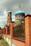Rue La cathédrale du basilic dans Barnaul Photo libre de droits