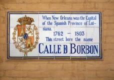 Rue la Nouvelle-Orléans de Bourbon Image libre de droits