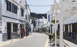 Rue latérale chez Puerto de las Nieves, sur mamie Canaria Images stock