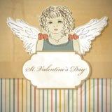 Rue Le jour de Valentines Image stock