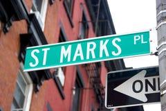 Rue Les repères placent, NYC Photographie stock