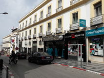 Rue liberté tanger. Photos de Tánger ville Stock Image